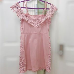 French Connection Dresses - Pink floral lace dress